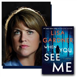 Author Lisa Gardner and her latest book,