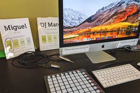Mac Computer with DJ Software