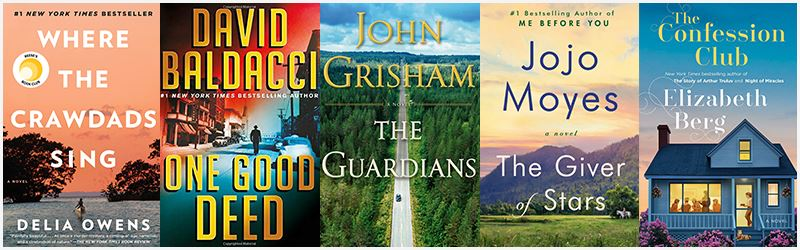 Covers for top 5 titles of January in Fiction