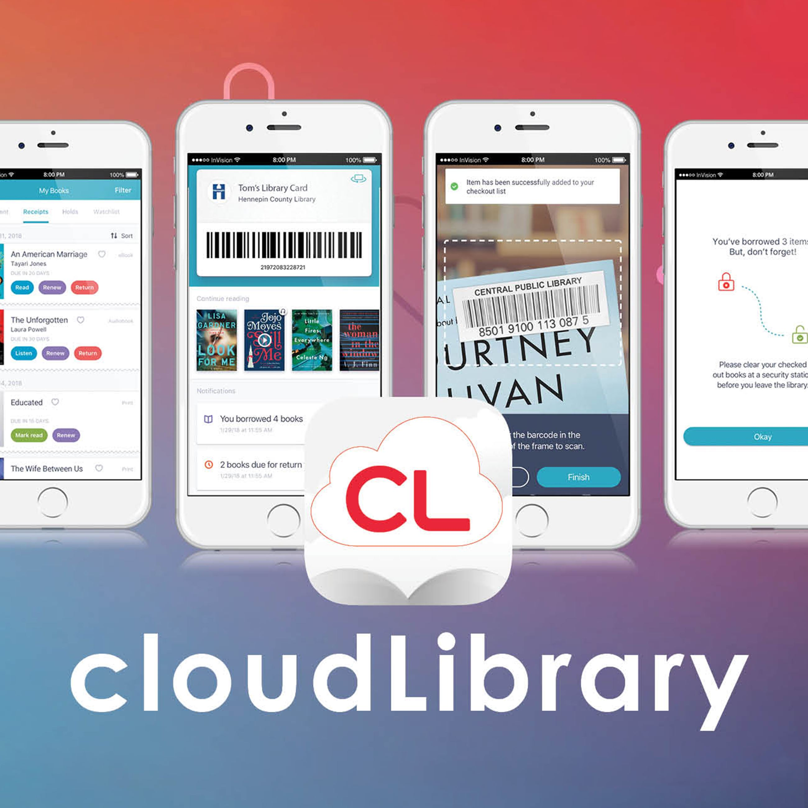 Download eBooks and eAudiobooks with cloudLibrary